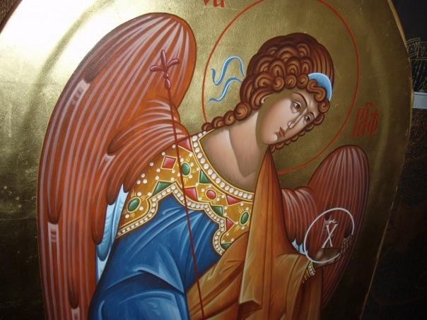 Архангел Рафаил. Фрагмент иконостаса